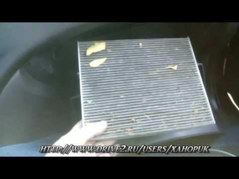 Видеоинструкция. Как заменить салонный фильтр в Hyundai Elantra HD cabin filter replacement.