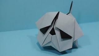 getlinkyoutube.com-Origami Bulldog by Jacky Chan