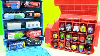 getlinkyoutube.com-Chuggington Trains Wooden Trains in Thomas Tote a Train Playbox Storage
