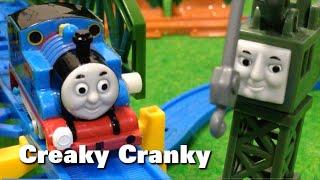 "getlinkyoutube.com-トーマス プラレール ガチャガチャ ガタガタクランキー Tomy Plarail Thomas ""Creaky Cranky"""
