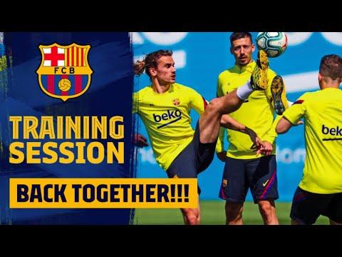 再開後初グループTR @FCバルセロナ