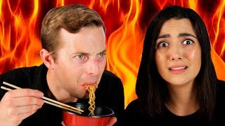 getlinkyoutube.com-People Try The World's Spiciest Instant Noodle
