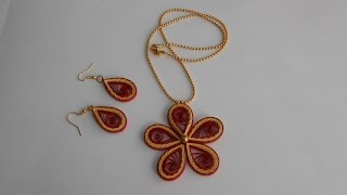 getlinkyoutube.com-Quilling Crimped Multilayer Jewelry Set - Tutorial