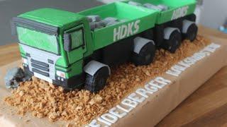 getlinkyoutube.com-3 D LKW Torte / Truck Cake / Schritt für Schritt Anleitung
