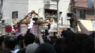 getlinkyoutube.com-『ド迫力』平成24年三社祭本社神輿渡御 西浅三北 中村会本部前