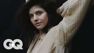 getlinkyoutube.com-Alexandra Daddario Behind the Scenes - Details Magazine