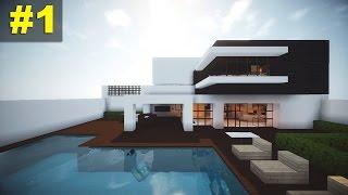 getlinkyoutube.com-Minecraft Tutorial: Casa Moderna - Parte 1