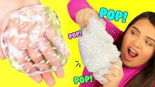 DIY Bubble Wrap Slime! Super Crunchy Popping Slime! width=