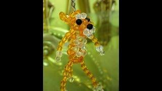 getlinkyoutube.com-طريقة عمل ميداليه الفهد الوردى من الخرز _ هنا قنديل _ Pink Panther of beads