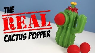 getlinkyoutube.com-Plants vs. Zombies The Real Cactus Popper Toy Jazwares Review
