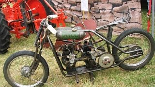 getlinkyoutube.com-Homemade :: Villiers Twin Engine Bike :: Bike Onboard