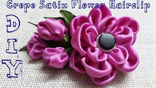 getlinkyoutube.com-D.I.Y. Crepe Satin Flower Hairclip Tutorial | MyInDulzens