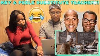 "getlinkyoutube.com-Couple Reacts : Key & Peele ""Substitute Teacher"" Reaction!!!!"