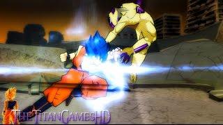 getlinkyoutube.com-Dragon Ball Z Shin Budokai 2 - Goku Ssj God Blue Vs Freezer Gold