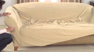 How To Install 1pc Stretch Slipcovers width=