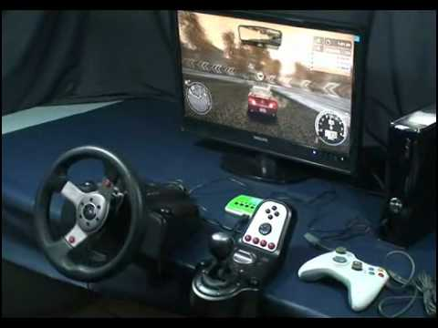 XCM F-1 Converter with G25/G27 Steering Wheel for Xbox 360 and PlayStation 3 PS3 Slim