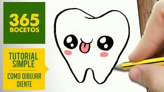 getlinkyoutube.com-COMO DIBUJAR MUELA KAWAII PASO A PASO - Dibujos kawaii faciles - How to draw a tooth
