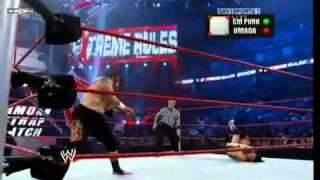 getlinkyoutube.com-WWE Extreme Rules CM Punk Vs Umaga Samoan Strap Match 2/2