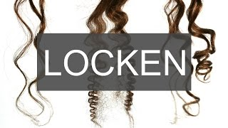 getlinkyoutube.com-3 ARTEN LOCKEN ZU MACHEN + Mini Make up Tutorial