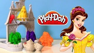 getlinkyoutube.com-♡ Play Doh Disney Princess Belle Beauty and the Beast Playset With Castle playdough