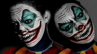 getlinkyoutube.com-Scary Smiling Clown Makeup