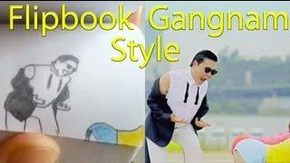 getlinkyoutube.com-Flipbook Gangnam Style -vs- Psy Gangnam Style.  AMAZING!