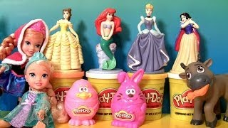getlinkyoutube.com-Play Doh Easter Bunny Chick Stampers Disney Princess Belle Ariel Cinderella Playdough Snow White