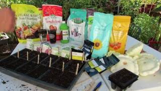 getlinkyoutube.com-Seed Starting Cool Weather Crops Outdoors in Seed Trays & Discounted Organic Fertilizers