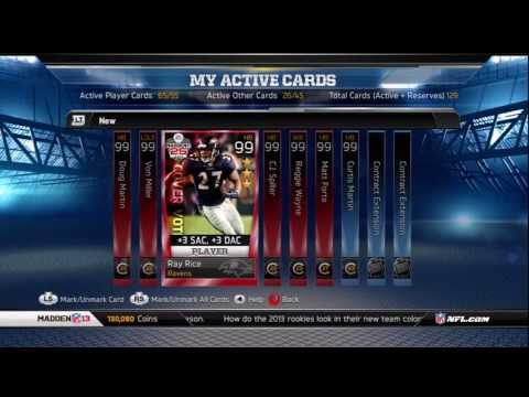 Madden 13 Ultimate Team : 4 Legendary Pack Openings