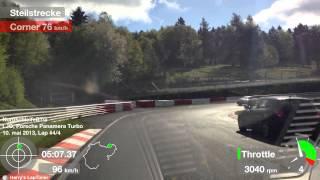Nürburgring 8 minutes BTG in traffic, Porsche Panamera Turbo filming Porsche 991 Carrera