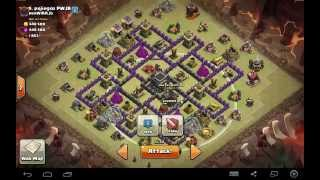 getlinkyoutube.com-Clash of Clans | LIVE Quatro GoLavaLoon TH9 | Clan Wars 3 Star - Rattan War Base