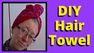 getlinkyoutube.com-DIY Spa Day Recycled Towel Turban