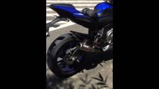 getlinkyoutube.com-2015 Yamaha YZF-R1 with SC-Project exhaust