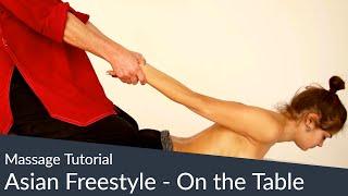 getlinkyoutube.com-Massage Tutorial - Thai Massage- u. Shiatsu-Elemente kombiniert mit Öl-Massage auf der Liege