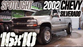 Spotlight - 2002 Chevy Silverado 1500, Rough Country Level, 16x10's, 305/70's