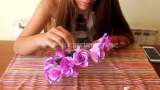 getlinkyoutube.com-TUTORIAL: Corona de flores