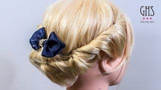 getlinkyoutube.com-ミディアムボブ:ツイストアップヘアアレンジ | Twist hairdo