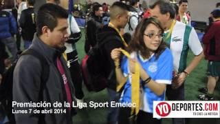 Premiacion de la Liga Sport Emelec