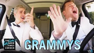 getlinkyoutube.com-Justin Bieber & James Corden's Post-Grammys Drive