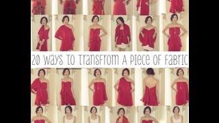 getlinkyoutube.com-20 Ways To Transform A Piece of Fabric Into A Shirt, Skirt, & Dress   Transformation