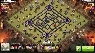 getlinkyoutube.com-How To 3 Star the Anti 2 Star TH9 Base 4 Corners w/ GoWiWi, Clash of clans clan war.