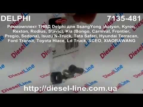 7135-481 Ремкомплект ТНВД Delphi для SsangYong, Kia, Isuzu, Tata, Hyundai, Ford, Toyota, Ld Truck, S