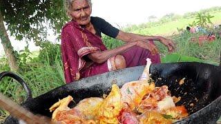 My 105 Years Grandma's Yummy Full Chicken Recipe | Tasty Chicken Curry  || Country Foods