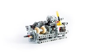 getlinkyoutube.com-LEGO TECHNIC 8 SPEED SEQUENTIAL GEARBOX WITH BUILDING INSTRUCTIONS
