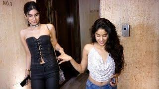 Jhanvi Kapoor & Khushi Kapoor Glamorous Side At Mom Sridevi's 54th Birthday Bash