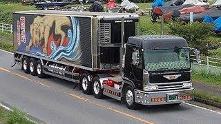getlinkyoutube.com-茨城アートトラック連盟 2012 椎名急送 由加丸 8番 美加丸 龍馬號 デコトラ アートトラック