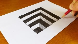 getlinkyoutube.com-Very Easy!! How To Draw 3D Hole for Kids - Anamorphic Illusion - 3D Trick Art on paper