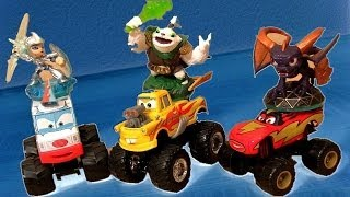 getlinkyoutube.com-Skylanders Giants Stackable Storage Box Using Monster Truck Mater Cars Toon Disney Pixar toys review
