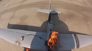 getlinkyoutube.com-RC Plane Burst Into Flames after take off