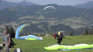 getlinkyoutube.com-Super Paragliding Testival 2015 Kössen Outtakes Funny Takeoff / Landing Fail Compilation airddicted